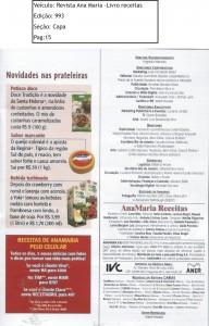 Revista Ana Maria Ed.993 Capa Livro de Receitas Pag.15...  </div>    </div>  <div class=