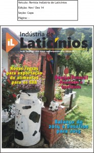 Revista Industria de Laticinios Ed.Nov. Dez 14 Capa